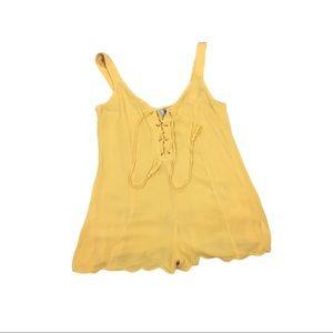 ASOS marigold yellow romper